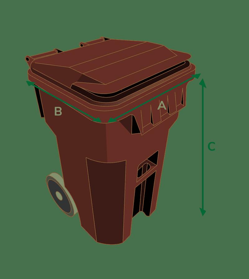 trash bin rendering