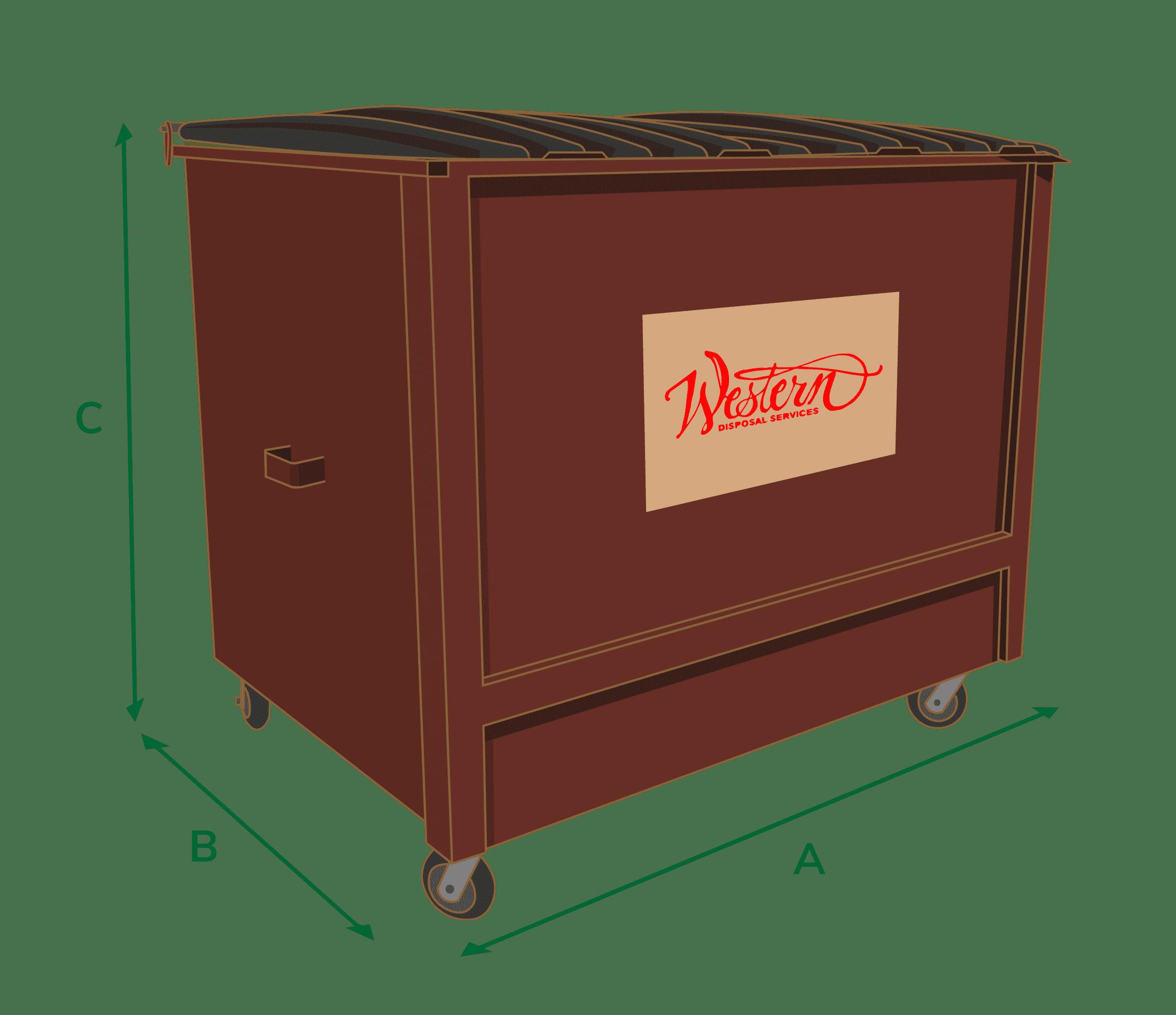 temporary dumpster rendering